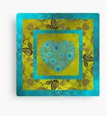 Hearts & Flowers Canvas Print