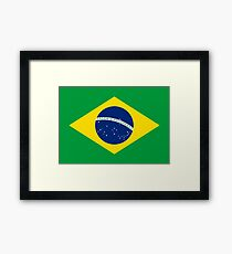 Brazil Flag Products Framed Print