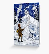 SNOW QUEEN : Vintage Fairy Tale Print Greeting Card