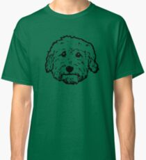Goldendoodles! Adorable doodle dogs in black and white Classic T-Shirt
