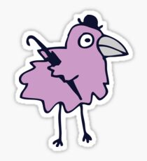 Business Bird - Lilac on Mint green - cute bird pattern by Cecca Designs Sticker