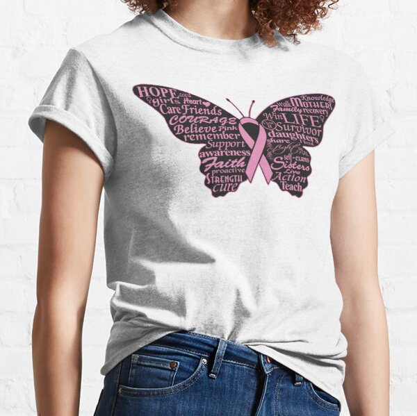 Breast Cancer Awareness Month October Butterfly Classic T-Shirt