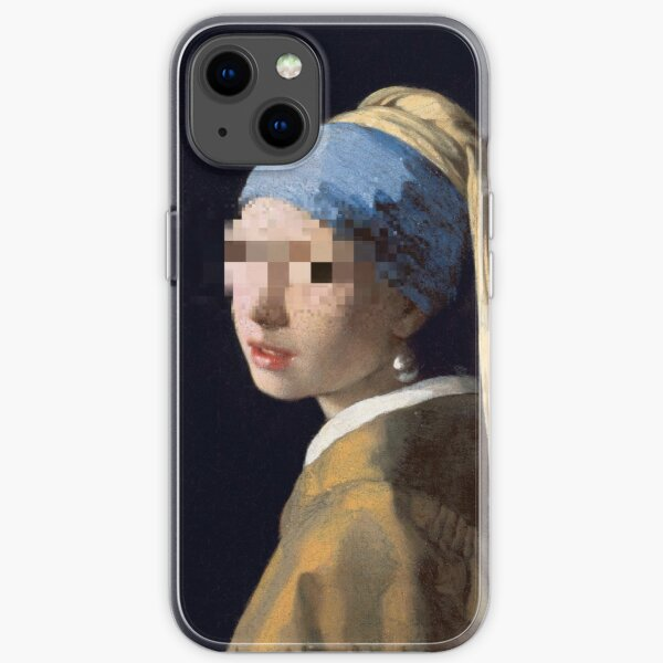 Blurred Girl With The Pearl Earring iPhone Soft Case