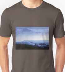 Landscape across Chesil Beach and Abbotsbury Unisex T-Shirt