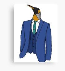 Penguin in a suit. Canvas Print