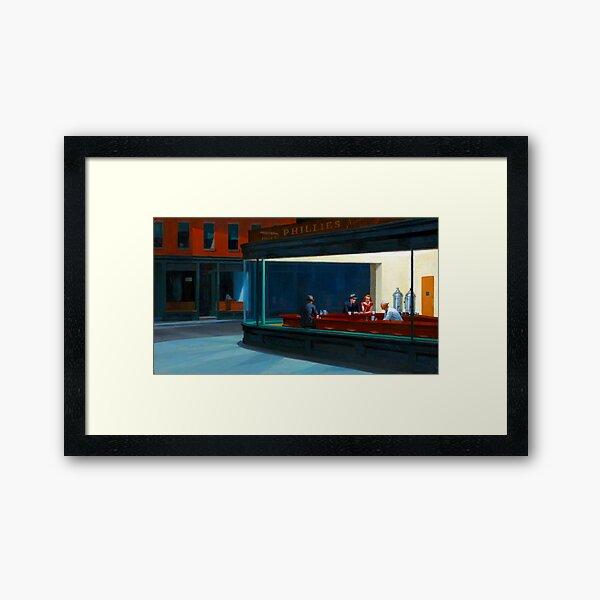 """""""Nighthawks"""" by Edward Hopper (1942) Framed Art Print"""