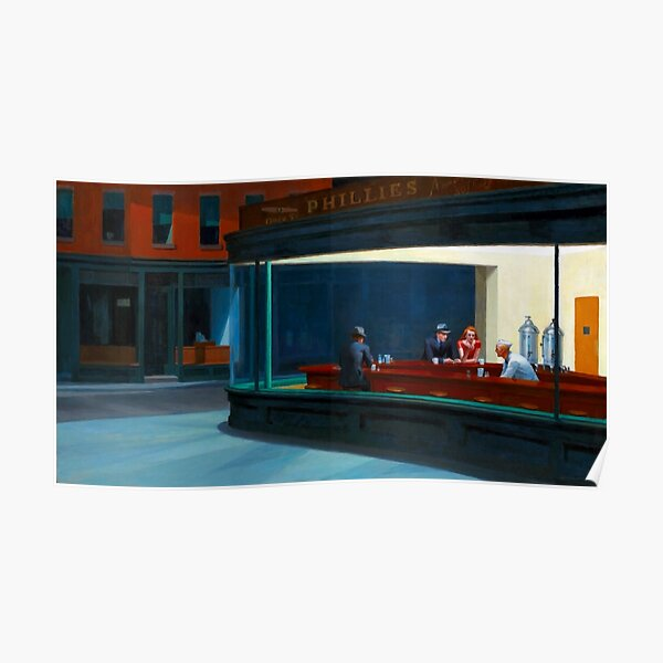 """Nighthawks"" by Edward Hopper (1942) Poster"