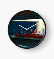 """""""Nighthawks"""" by Edward Hopper (1942) Clock"""