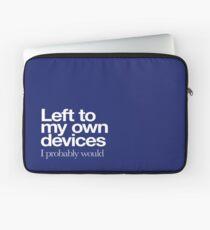 Links zu meinen eigenen Geräten ... weißes Logo Laptoptasche