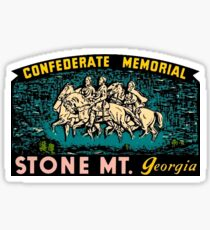 Confederate Memorial Stone Mountain Georgia Vintage Travel Decal Sticker