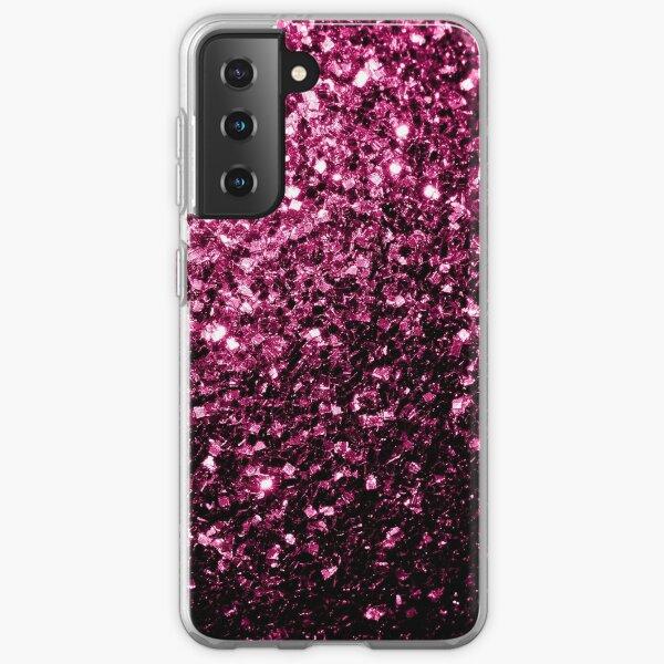 Beautiful Dark Pink glitter sparkles Samsung Galaxy Soft Case
