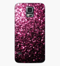 Beautiful Dark Pink glitter sparkles Case/Skin for Samsung Galaxy