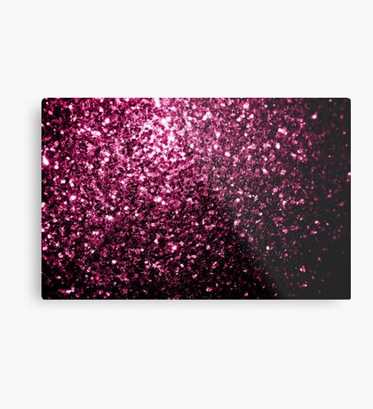 Beautiful Dark Pink glitter sparkles Metal Print
