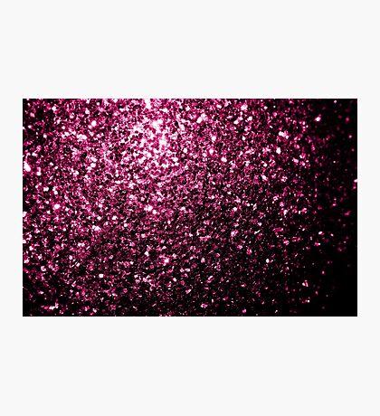Beautiful Dark Pink glitter sparkles Photographic Print