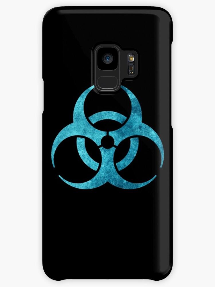 Blue Biohazard Symbol Cases Skins For Samsung Galaxy By Rebellion