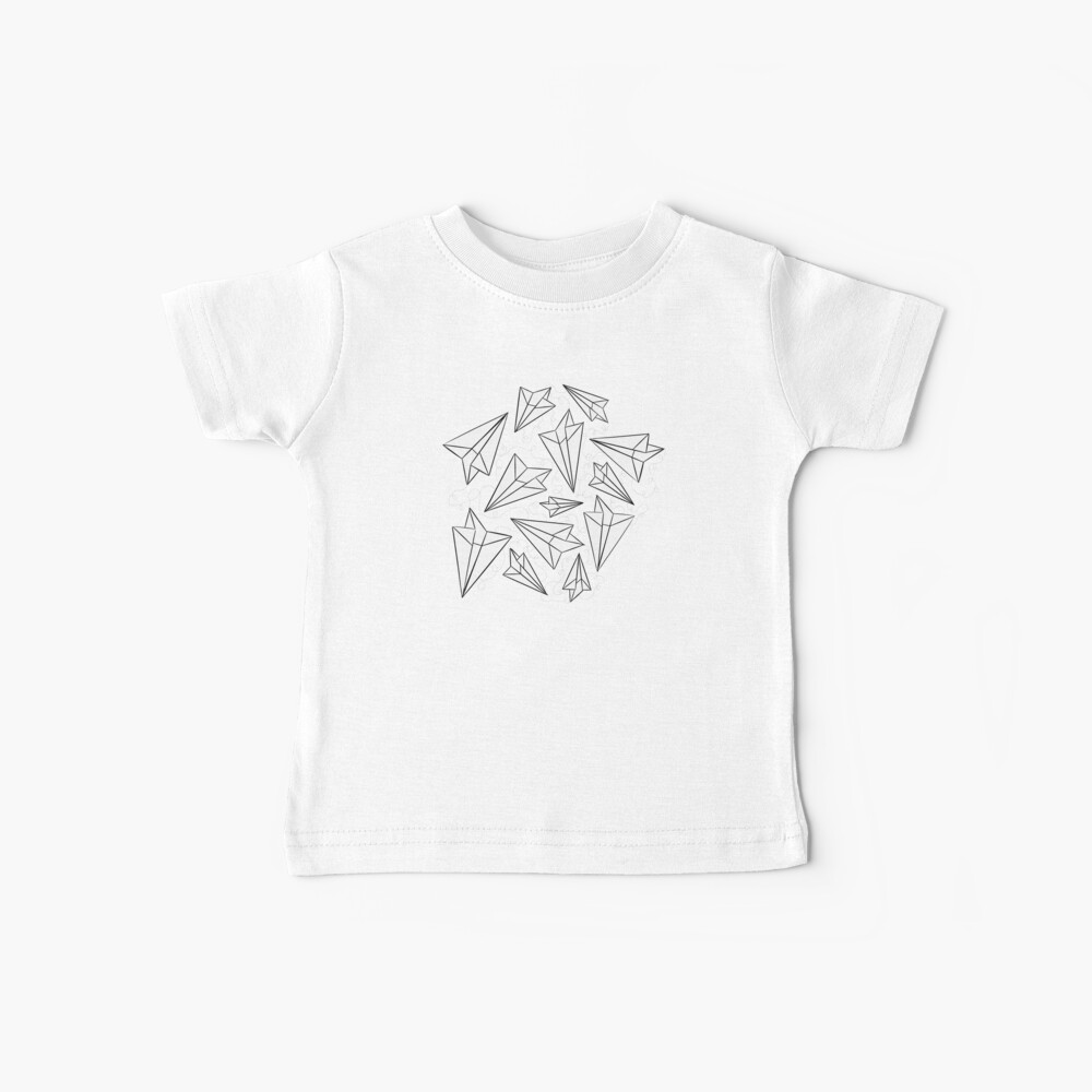 Paper Airplanes Mint Baby T-Shirt