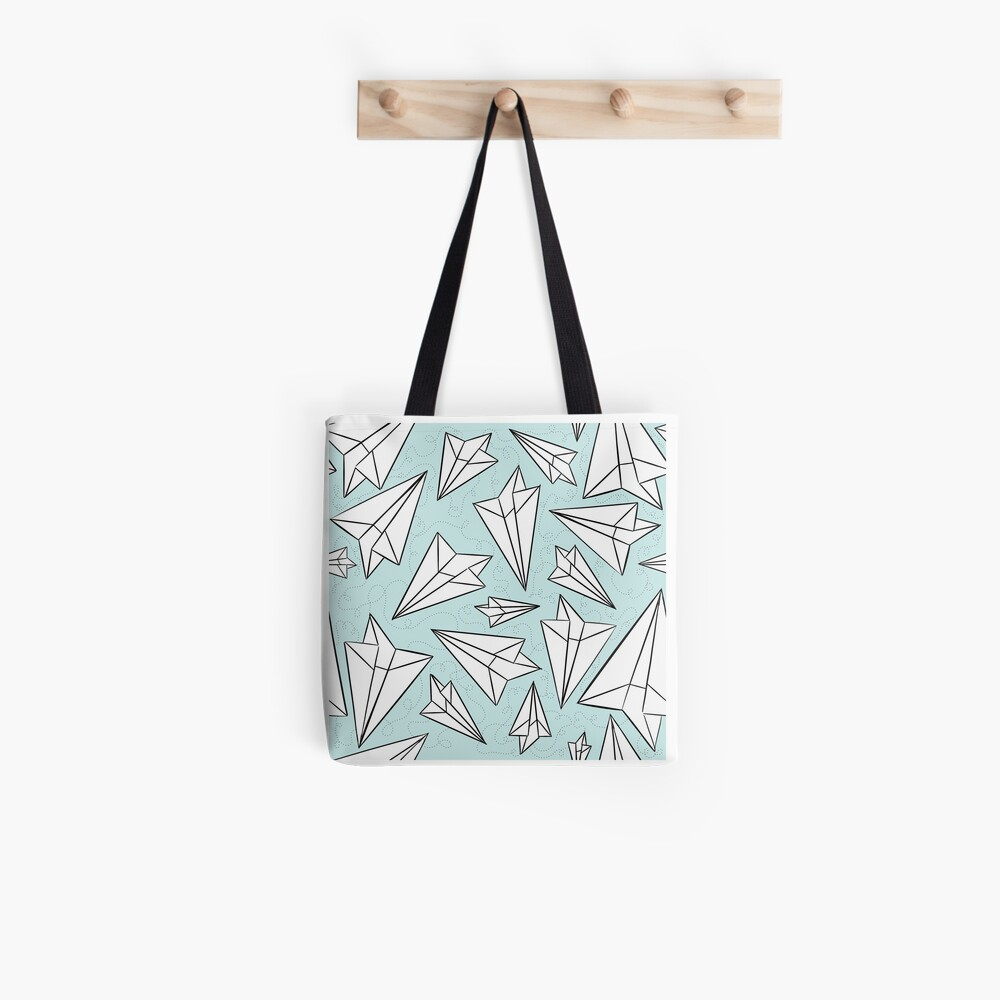 Paper Airplanes Mint Tote Bag