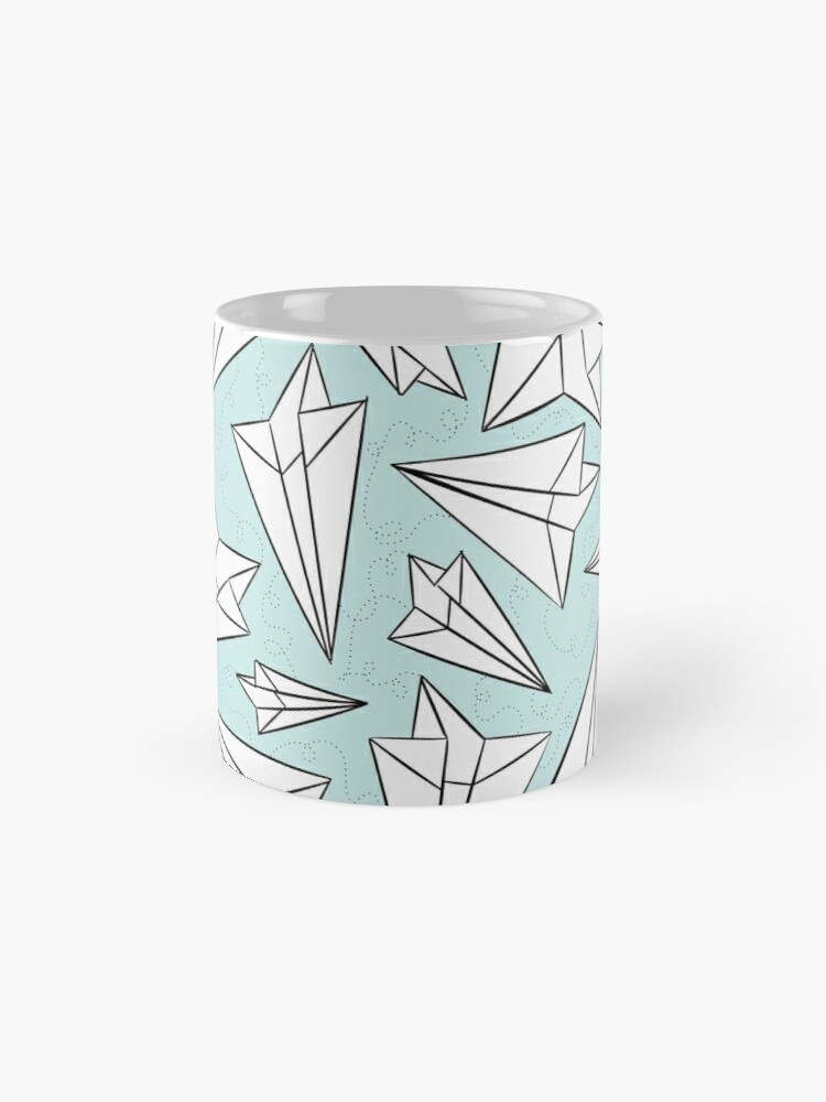 Alternate view of Paper Airplanes Mint Mug