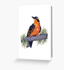 Birds In Hell Greeting Card