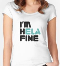 HELA FINE Women's Fitted Scoop T-Shirt
