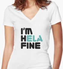 HELA FINE [Roufxis - RB] Women's Fitted V-Neck T-Shirt