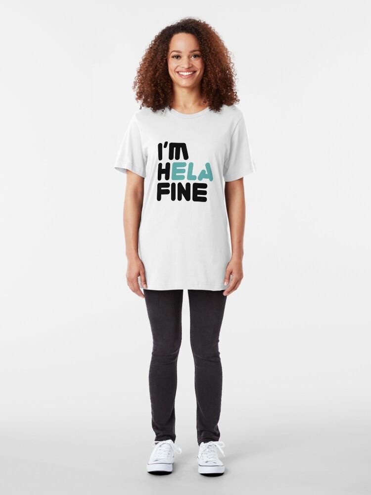 Vista alternativa de Camiseta ajustada HELA FINE [Roufxis - RB]