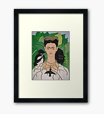 Frida with Monkey and Cat Framed Print