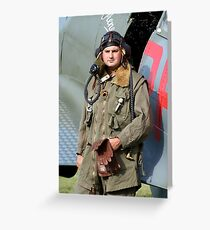 Tribute to the 1940's RAF Greeting Card