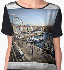 Marseilles Harbor Women's Chiffon Top
