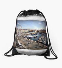 Marseilles Harbor Drawstring Bag