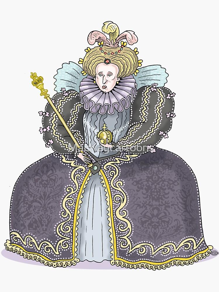 Queen Elizabeth I by MacKaycartoons