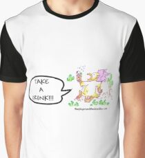 """""""Take a drink!"""" Drunk Griffin Graphic T-Shirt"""