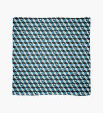 Geometric Cubes Pattern - Petrol Blue Scarf