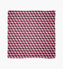 Geometric Cubes Pattern - Raspberry Red Scarf
