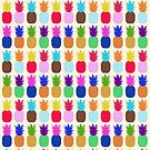 Pineapple Colourful Pattern (tight) by jezkemp