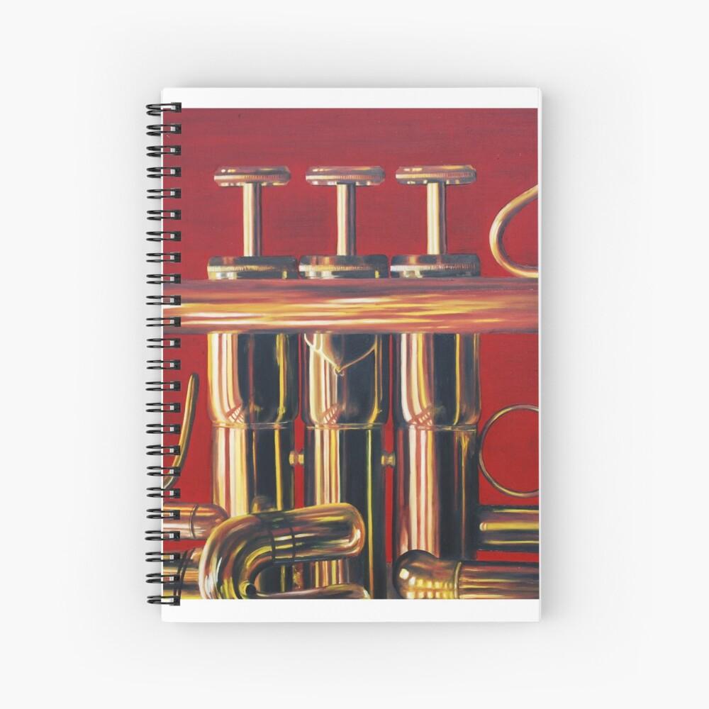 Trumpet in Red Spiral Notebook