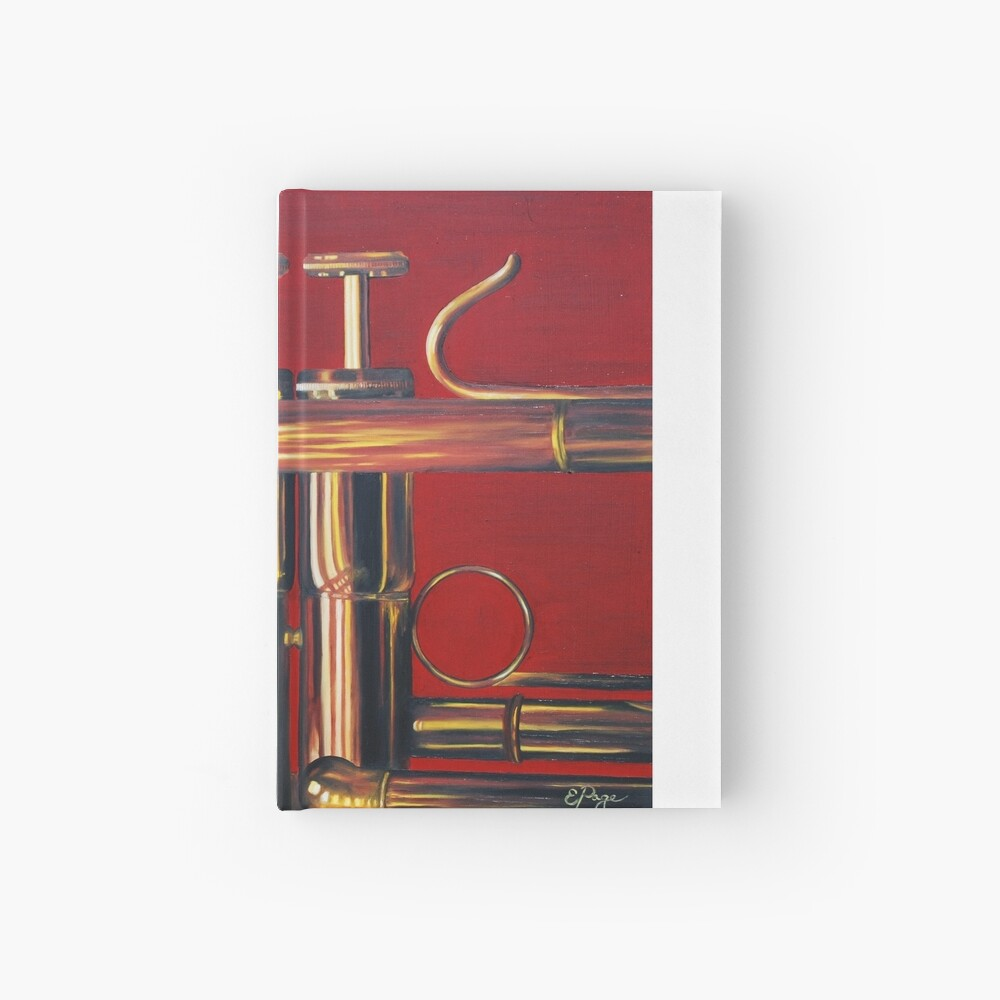 Trumpet in Red Hardcover Journal