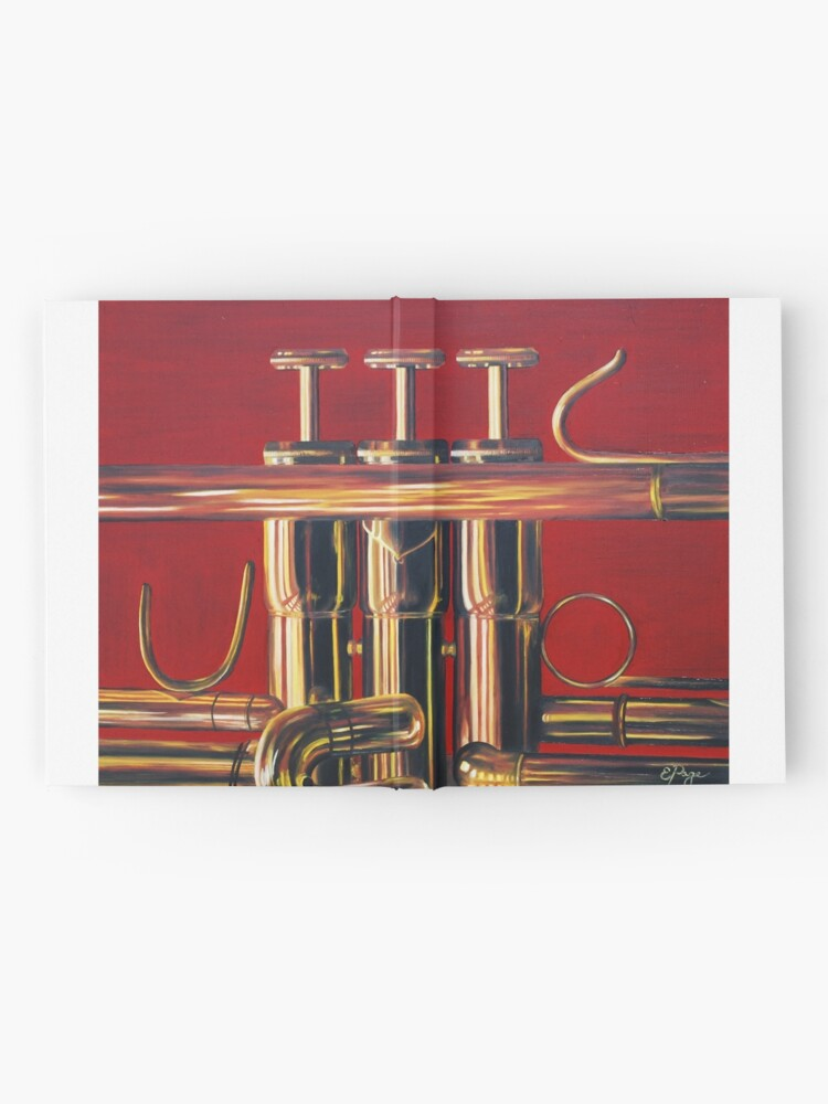 Alternate view of Trumpet in Red Hardcover Journal