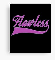 Flawless Elegant Sarcastic Funny Hilarious Vain T-shirt Canvas Print