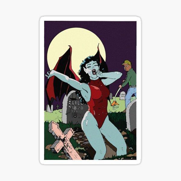 Awakening on Halloween Night Sticker
