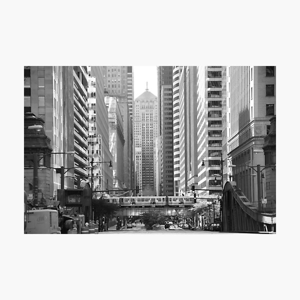 Chicago Lasalle Street Photographic Print