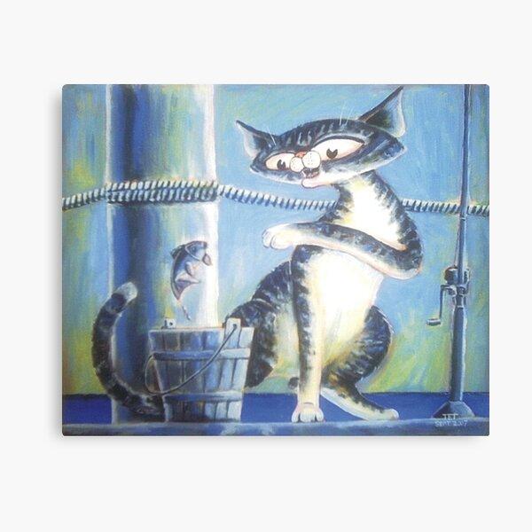 Bluey Fishing - Art by TET Canvas Print