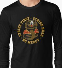 Cobra kai - Strike First - Strike Hard - No Mercy HD Logo Long Sleeve T-Shirt