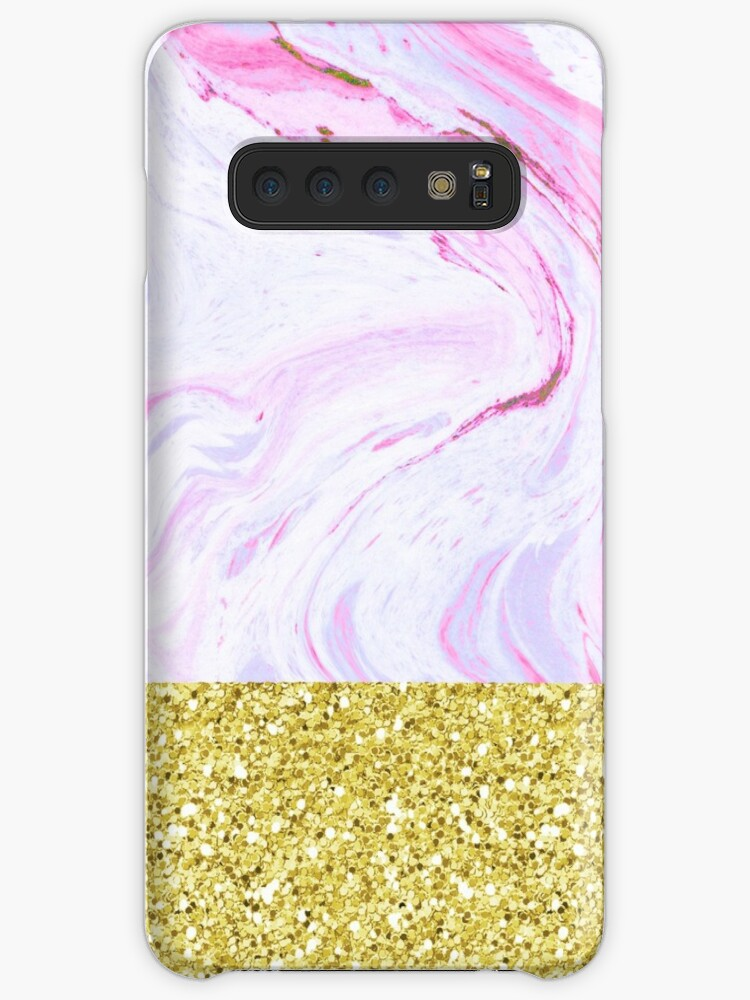 Gold Dipped Cotton Candy Marble by julieerindesign