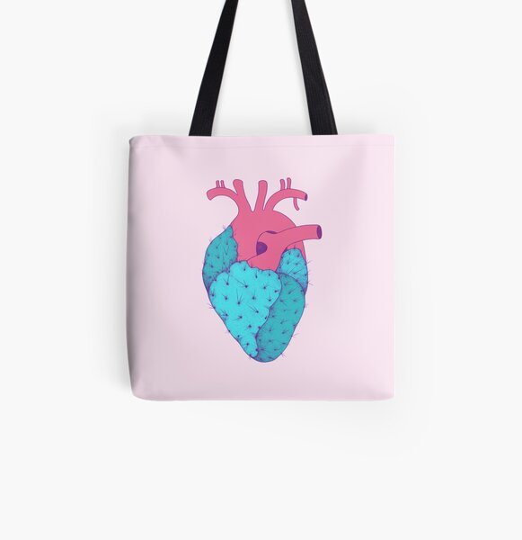 Cactus Heart All Over Print Tote Bag