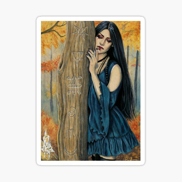 Samhain Autumn Witch Sticker