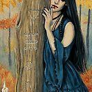 Samhain Autumn Witch by Rebecca Sinz
