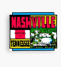 Nashville Tennessee Vintage Travel Decal Canvas Print