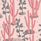 Pink tropical garden by smalldrawing