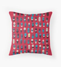 Robotz - Sapphire Rose Throw Pillow